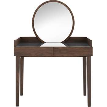 Xander Dressing Table, Walnut (134 x 96cm)