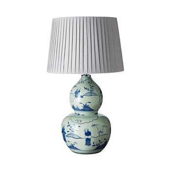 Xuande Lamp - Blue/White (37 x 23cm)