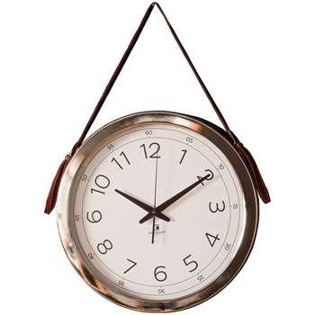 Yalding Clock Faux Leather (Diameter 40cm)