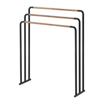 Yamazaki - Freestanding Towel Rack - Black (H83 x W70 x D19cm)