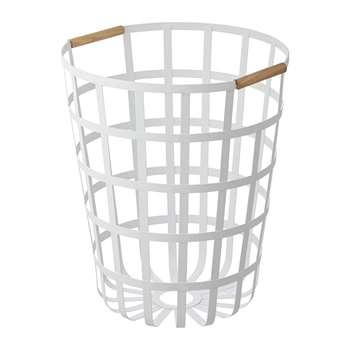 Yamazaki - Tosca Round Laundry Basket - White (H45 x W40 x D40cm)