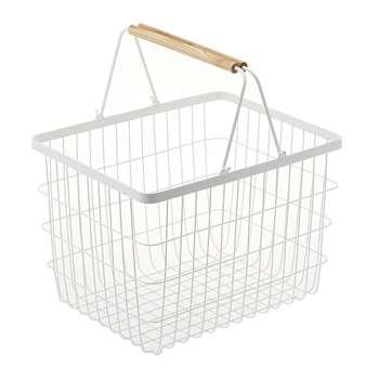 Yamazaki - Tosca White Laundry Basket - Small (H27 x W41.5 x D31cm)
