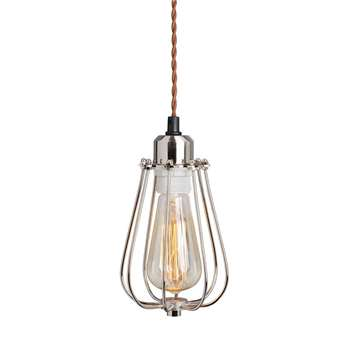 Yann Industrial Cage Pendant Light (25 x 14cm)