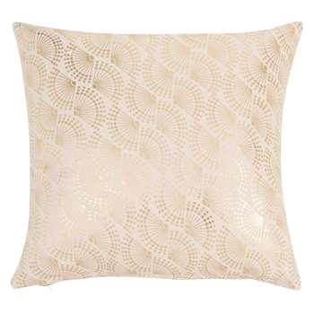 YASMINE - Ecru Cotton Cushion Cover (H40 x W40cm)