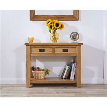 Yateley Oak Console Table (78 x 100cm)
