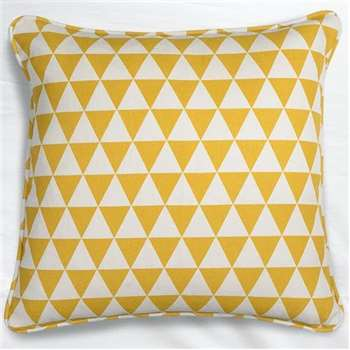 Yellow Check Cushion (45 x 45cm)