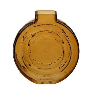 Yellow Glass Vase (H16.5 x W15.4 x D5.7cm)