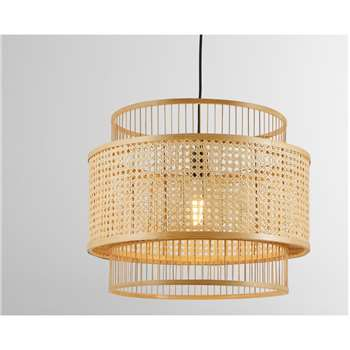 Yen Extra Large Pendant Shade, Natural Bamboo (H40 x W50 x D50cm)