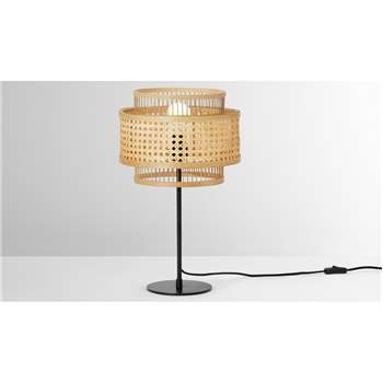 Yen Table Lamp, Natural Cane (H54 x W31 x D31cm)