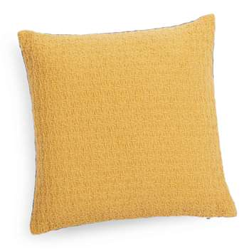 YEP mustard yellow/grey cushion (40 x 40cm)