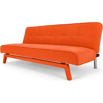Yoko Sofa Bed, Atomic Orange (80 x 180cm)