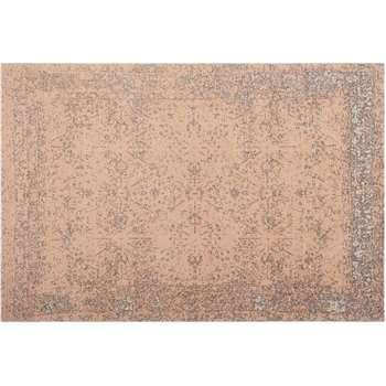 Yolanda Faded Persian Jacquard Rug, Dusky Pink (H160 x W230 x D0.7cm)