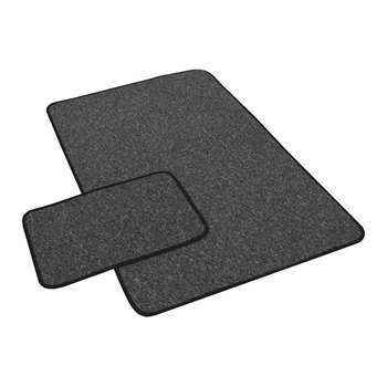 York Twist Runner and Doormat 133 x 80cm - Grey