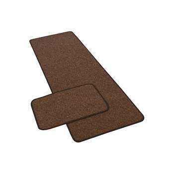 York Twist Runner and Doormat - Chocolate - 180 x 57cm