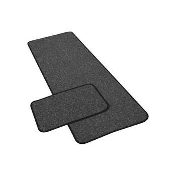 York Twist Runner and Doormat - Grey - 180 x 57cm