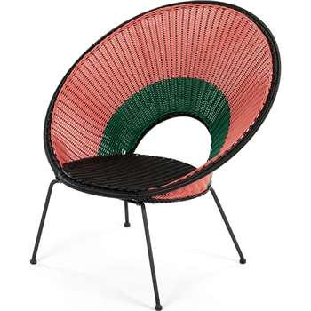 Yuri Garden Lounge Chair, Multi Woven Pink (H75 x W94cm)