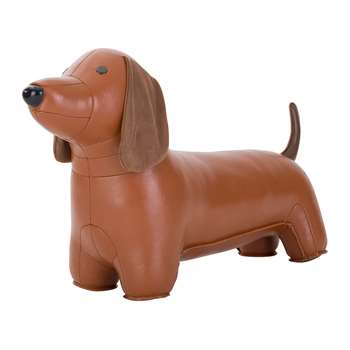 Züny - Dachshund Door Stop - Tan & Brown (H21 x W39 x D11.5cm)