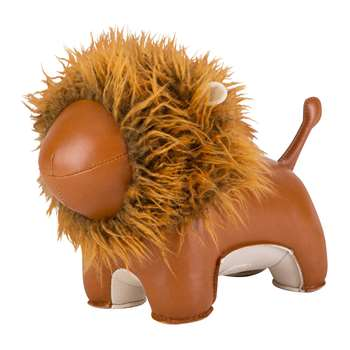 Züny - Lion Lino Door Stop - Tan & Brown (H22 x W31 x D14cm)