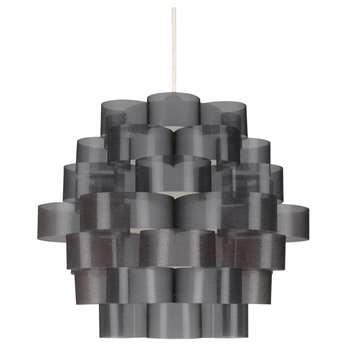 Zaan Pendant Light Shade Smoked (H28 x W34 x D34cm)