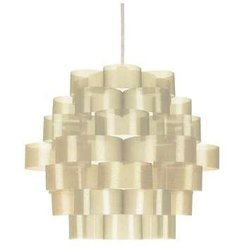 Zaan Pendant Light Shade Taupe (H28 x W34 x D34cm)