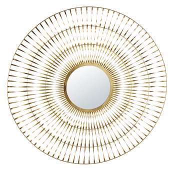 ZAGRA - Twisted Gold Metal Mirror (H129 x W131 x D3cm)