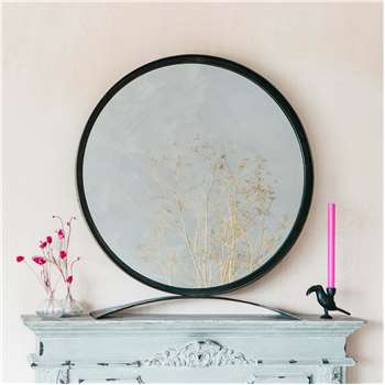 Zandar Extra Large Black Table Mirror (H86 x W80 x D3cm)