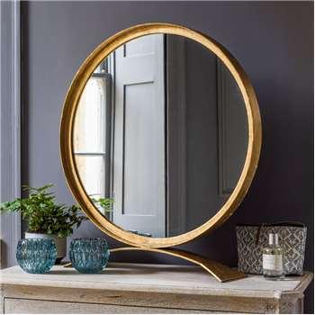 Zandar Iron Round Table Mirror (67 x 61cm)