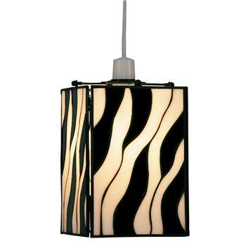 Zebra Tiffany Pendant Shade (H22 x W14.5 x D14.5cm)