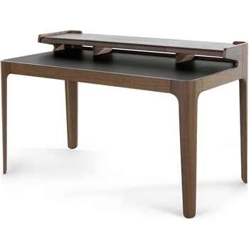 Zeke Desk, Walnut and Black (88 x 140cm)