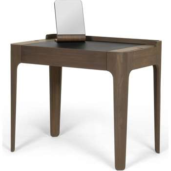 Zeke dressing table and mirror, walnut and black (78 x 90cm)