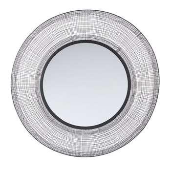 ZELIA - Round Woven Metal Mirror (Diameter 100cm)