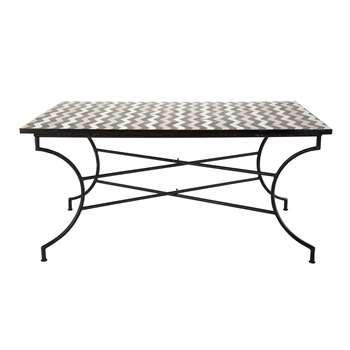 ZELIE Zellige tile dining table W 160cm