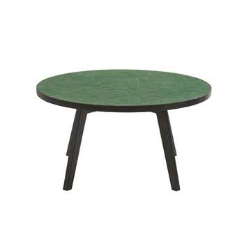 ZELIGES Green Mosaic Garden Coffee Table (H42 x W84 x D84cm)