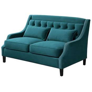 Zeno 2 seat Sofa Opulence Teal (H87 x W145 x D94cm)