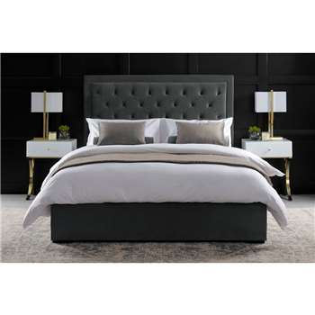 ZENO Upholstered Bed - Midnight Grey (H130 x W205 x D143cm)