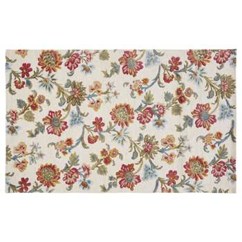 ZING - Rug with Multicoloured Floral Print (H140 x W200 x D2cm)