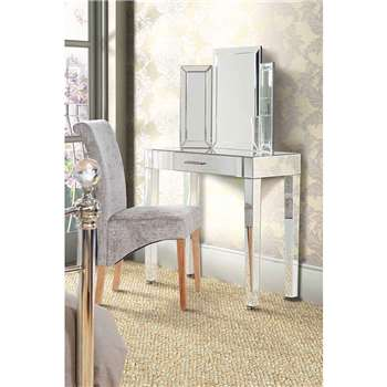 ZOE Mirrored Dressing Table with Single Drawer (80 x 90cm)