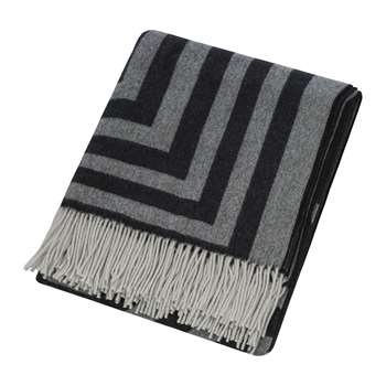 Zoeppritz since 1828 - Anniversary Design Figure Two Blanket - Black (H135 x W190cm)