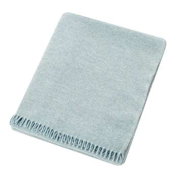 Zoeppritz since 1828 - Must Relax Virgin Wool Blanket - Powder Blue (H190 x W130cm)