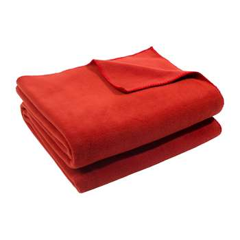Zoeppritz since 1828 - Soft Fleece Blanket - Rust (H160 x W200cm)