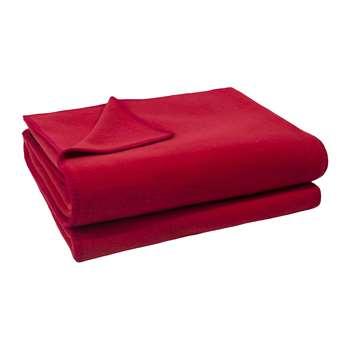 Zoeppritz since 1828 - Soft Fleece Blanket - Strawberry (H160 x W200cm)