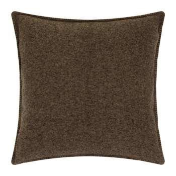 Zoeppritz since 1828 - Soft Wool Cushion - Wood (H50 x W50cm)