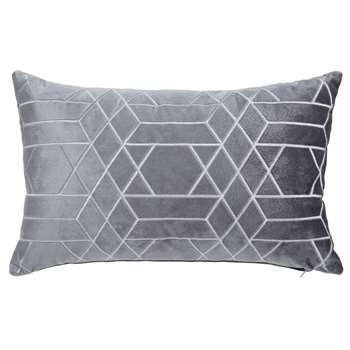 ZOLA anthracite graphic cushion (30 x 50cm)
