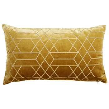 ZOLA graphic mustard yellow cushion (30 x 50cm)