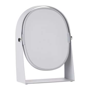 Zone Denmark - Table Magnify Mirror - Soft Grey (H22.5 x W15.8 x D7cm)