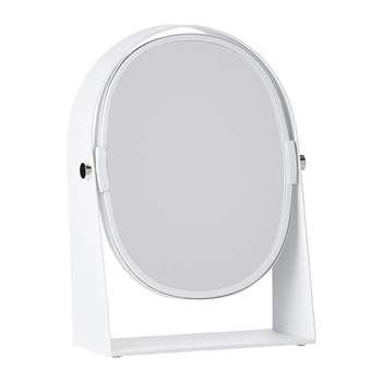 Zone Denmark - Table Magnify Mirror - White (H22.5 x W15.8 x D7cm)