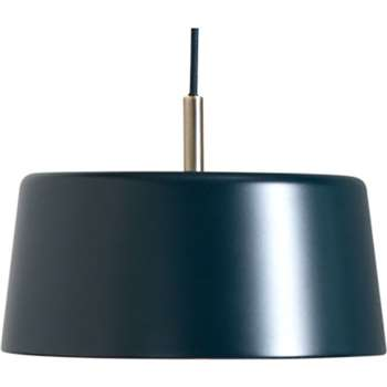 Zoom Pendant Light, Slate Blue and Brass (130 x 28cm)