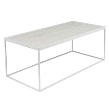 Zuiver Glazed Coffee Table in White (H36 x W93 x D43cm)