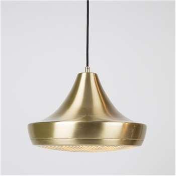 Zuiver Gringo Pendant Light in Brass (154.5 x 35cm)