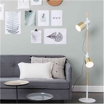 Zuiver Ivy Spot Light Floor Lamp in White (145 x 28cm)